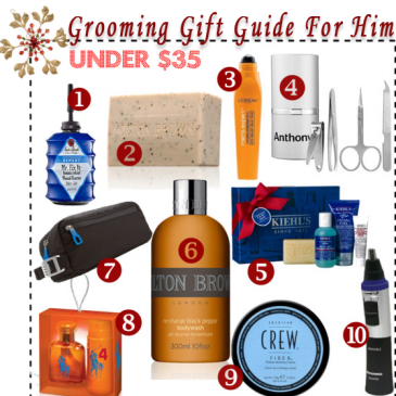Holiday Grooming Gift Guide For Him – Under $35