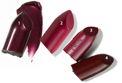 Plum Lipsticks Fall Colors